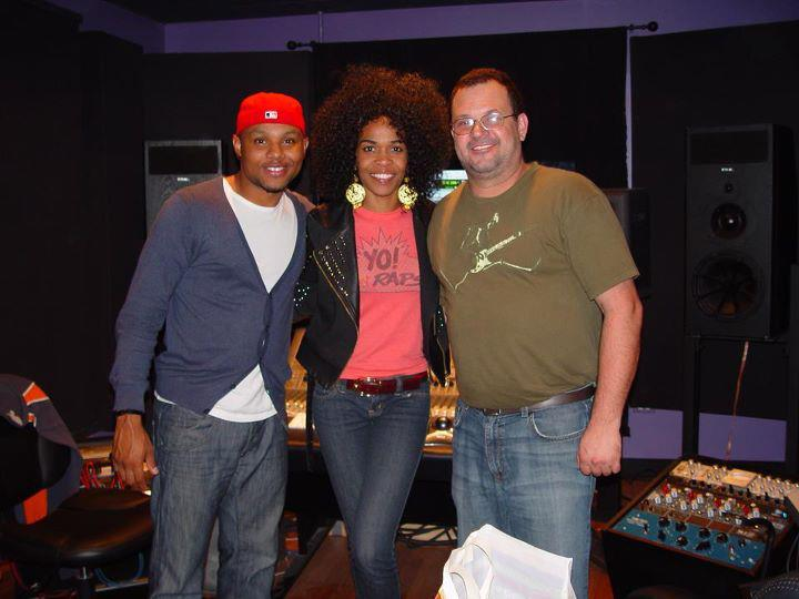 Michelle WIlliams with Todd Dulaney and Biro at Fragile Music Group
